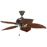 Progress P2526-20 AirPro Outdoor 52 inch Antique Bronze with Washed Walnut Blades Indoor/Outdoor Ceiling Fan