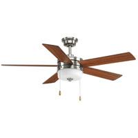 Progress P2558-0930K Verada 52 inch Brushed Nickel with Medium Cherry/American Walnut Blades Ceiling Fan, Progress LED
