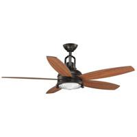 Progress P2568-2030K Kudos 52 inch Antique Bronze with Walnut/Cherry Blades Ceiling Fan, Progress LED