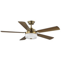 Progress P2578-16330K Tempt 52 inch Vintage Brass with Chestnut/Dark Cherry Blades Ceiling Fan, Progress LED