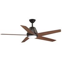 Progress P2582-2030K Gust 54 inch Antique Bronze with Walnut Blades Ceiling Fan, Progress LED
