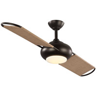 Progress P2596-12930K Edisto 54 inch Architectural Bronze with Mushroom Blades Outdoor Ceiling Fan