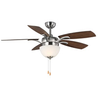 Progress P2598-09 Olson 52 inch Brushed Nickel with Reversible Classic Walnut/Medium Cherry Blades Ceiling Fan