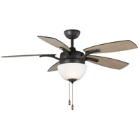 Olson 52 inch Graphite with Reversible Graphite/Walnut Blades Ceiling Fan