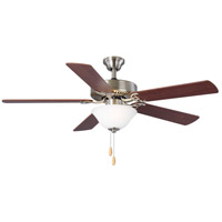 Progress P2599-09 Builder 52 inch Brushed Nickel with Reversible Cherry/Natural Cherry Blades Ceiling Fan