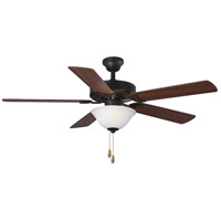 Progress P2599-129 Builder 52 inch Architectural Bronze with Reversible Medium Cherry/Classic Walnut Blades Ceiling Fan