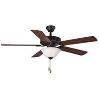 Progress P2599-129 Builder 52 inch Architectural Bronze with Reversible Medium Cherry/Classic Walnut Blades Ceiling Fan