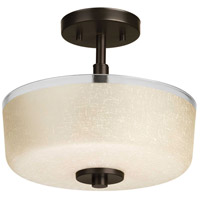 Progress P2851-20 Alexa 2 Light 12 inch Antique Bronze Semi-Flush Mount Ceiling Light photo thumbnail