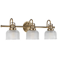 Archie 3 Light 26 inch Vintage Brass Bath Vanity Wall Light
