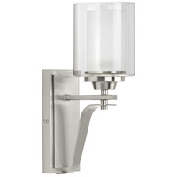 Progress P300120-009 Kene 1 Light 5 inch Brushed Nickel Bath Vanity Wall Light