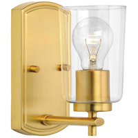 Progress P300154-012 Adley 1 Light 5 inch Satin Brass Bath Vanity Wall Light