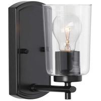 Progress P300154-031 Adley 1 Light 5 inch Black Bath Vanity Wall Light