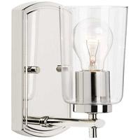 Progress P300154-104 Adley 1 Light 5 inch Polished Nickel Bath Vanity Wall Light