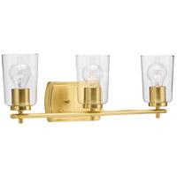 Progress P300156-012 Adley 3 Light 23 inch Satin Brass Bath Vanity Wall Light