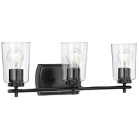 Progress P300156-031 Adley 3 Light 23 inch Black Bath Vanity Wall Light