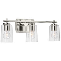 Progress P300156-104 Adley 3 Light 23 inch Polished Nickel Bath Vanity Wall Light alternative photo thumbnail