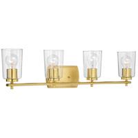 Progress P300157-012 Adley 4 Light 32 inch Satin Brass Bath Vanity Wall Light