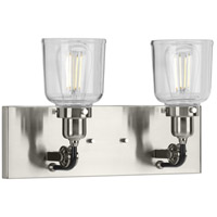 Progress P300227-009 Rushton 2 Light 16 inch Brushed Nickel Bath Vanity Wall Light