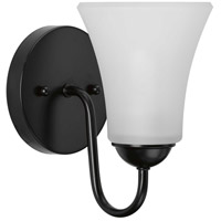 Progress P300233-031 Classic 1 Light 5 inch Black Bath Vanity Wall Light