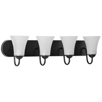 Progress P300236-031 Classic 4 Light 30 inch Black Bath Vanity Wall Light
