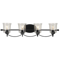 Progress P300256-031 Bowman 4 Light 34 inch Matte Black Bath Vanity Wall Light