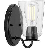 Progress P300261-031 Durrell 1 Light 5 inch Matte Black Bath Bracket Wall Light