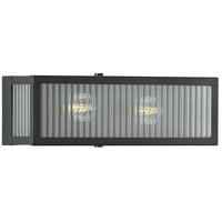 Progress P300265-031 Dwyer 2 Light 14 inch Matte Black Bath Bracket Wall Light