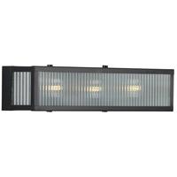 Progress P300266-031 Dwyer 3 Light 22 inch Matte Black Bath Bracket Wall Light