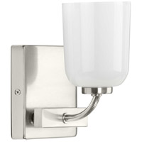 Progress P300280-009 Moore 1 Light 5 inch Brushed Nickel Bath Vanity Wall Light