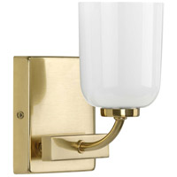 Progress P300280-012 Moore 1 Light 5 inch Satin Brass Bath Vanity Wall Light