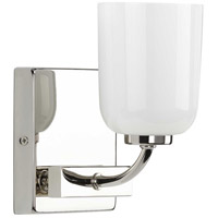 Progress P300280-104 Moore 1 Light 5 inch Polished Nickel Bath Vanity Wall Light