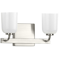 Progress P300281-009 Moore 2 Light 13 inch Brushed Nickel Bath Vanity Wall Light