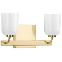 Progress P300281-012 Moore 2 Light 13 inch Satin Brass Bath Vanity Wall Light