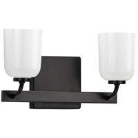 Progress P300281-031 Moore 2 Light 13 inch Matte Black Bath Vanity Wall Light