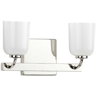 Progress P300281-104 Moore 2 Light 13 inch Polished Nickel Bath Vanity Wall Light