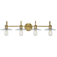 Progress P300289-163 Fayette 4 Light 35 inch Vintage Brass Bath Bracket Wall Light