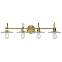 Progress P300289-163 Fayette 4 Light 35 inch Vintage Brass Bath Vanity Wall Light