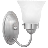 Progress P3287-09ET Fluted Glass 1 Light Brushed Nickel Bath Vanity Wall Light in Etched Fluted