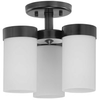 Progress P350040-031 Elevate 3 Light 12 inch Black Semi-Flush Mount Ceiling Light Design Series