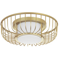 Progress P350089-078-30 Finesse LED 15 inch Antique Gold Leaf Flush Mount Ceiling Light