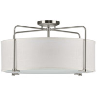 Progress P350110-009 Kempsey 3 Light 22 inch Brushed Nickel Semi-Flush Mount Ceiling Light Pendant Convertible