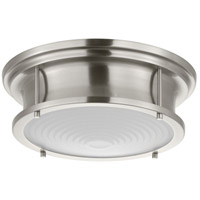 Fresnel Lens LED 13 inch Brushed Nickel Flush Mount Ceiling Light