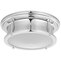 Fresnel Lens LED 13 inch Polished Chrome Flush Mount Ceiling Light