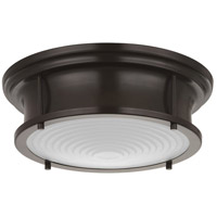 Fresnel Lens LED 13 inch Oil Rubbed Bronze Flush Mount Ceiling Light