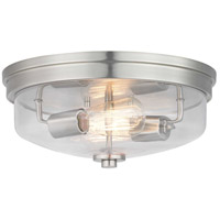 Progress P350121-009 Blakely 2 Light 14 inch Brushed Nickel Flush Mount Ceiling Light Design Series
