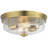 Progress P350121-109 Blakely 2 Light 14 inch Brushed Bronze Flush Mount Ceiling Light Design Series