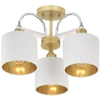 Progress P350128-078 Rigsby 3 Light 18 inch Vintage Gold Semi-Flush Mount Ceiling Light Pendant Convertible Design Series