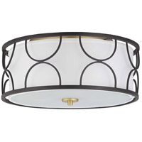 Progress P350132-031 Landree 3 Light 16 inch Black Flush Mount Ceiling Light