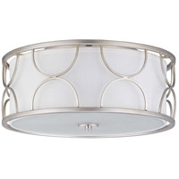 Landree 3 Light 16 inch Silver Ridge Flush Mount Ceiling Light