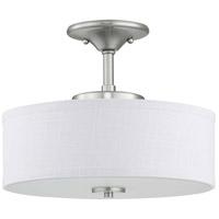 Progress P350134-009-30 Inspire Led LED 13 inch Brushed Nickel Semi-Flush Mount Ceiling Light
